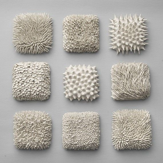 Textured Ceramic Tiles | Absolutely love all of Heather Knight's work from Element Clay Studio