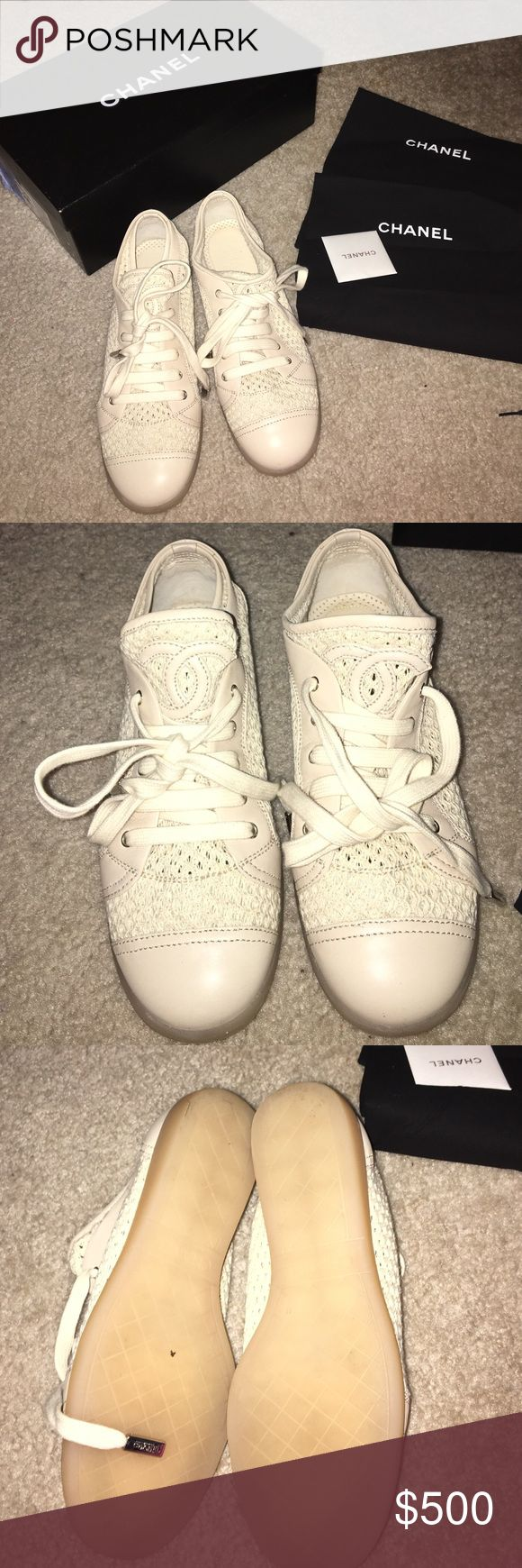 Chanel sneaker Beautiful new Chanel sneaker bought at saks fifth ave size 37  authentic  trade  make me an offer CHANEL Shoes Sneakers