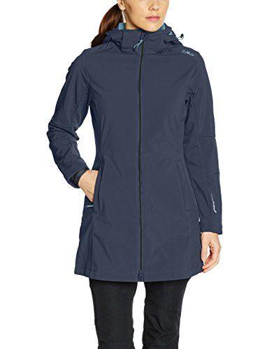 new style 7b8eb 457c8 CMP Damen Softshell Mantel, Blau (Asphalt/Sky), 42 | Leichte ...