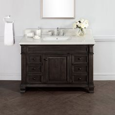 Photos Of Abel inch Distressed Single Sink Bathroom Vanity Stone Top http
