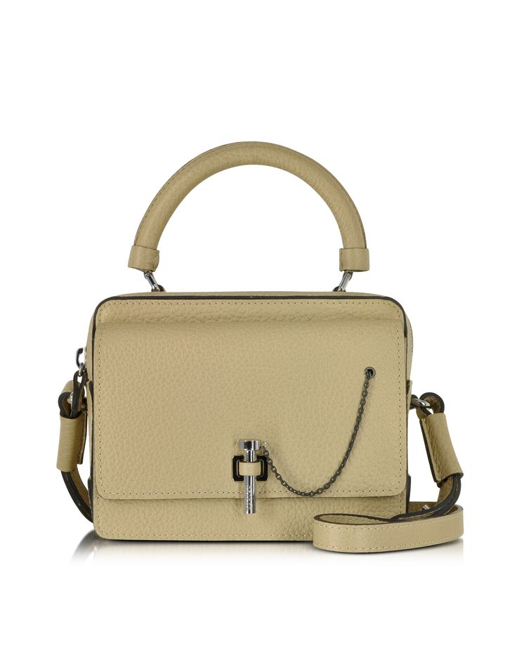 Carven Biscuit Malher Grained Leather Small Handbag at FORZIERI