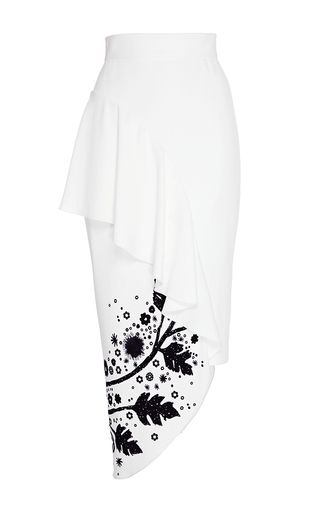 Leaf Printed Ruffle Skirt by PETER PILOTTO for Preorder on Moda Operandi
