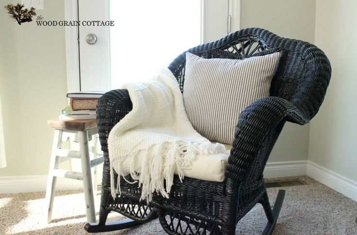 Wicker Rocking Chair by The Wood Grain Cottage