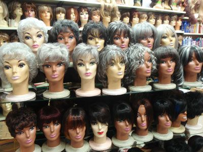 Silver and gray wigs