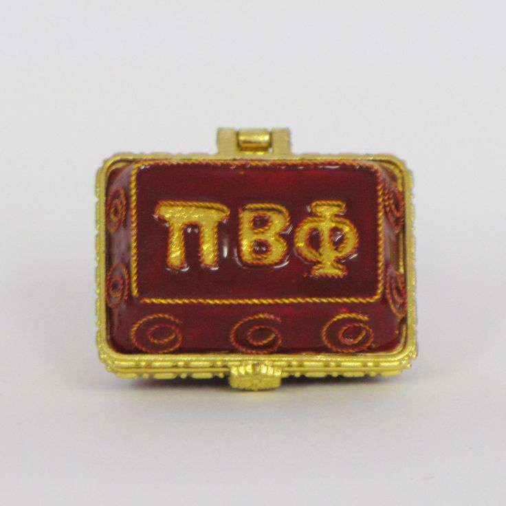 Officially licensed Phi Beta Phi, handcrafted, 24k gold plated cloisonne - www.KittyKeller.com