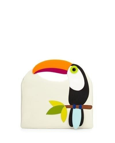 NWT-Kate-Spade-Clutch-Fine-Feathers-Tansi-Parrot-For-The-Birds-Toucan