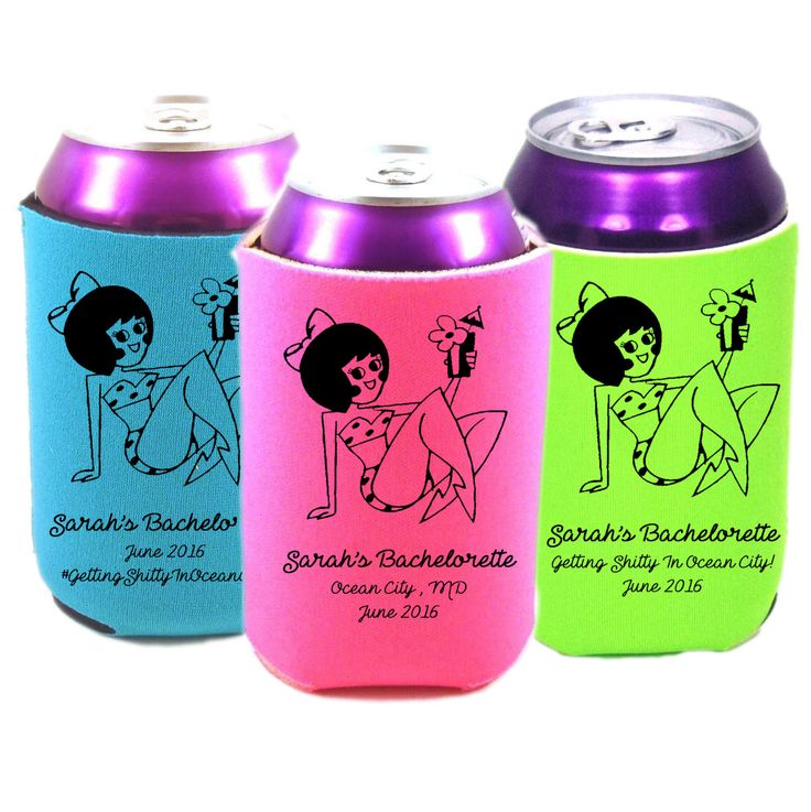 Baltimore Beach Bachelorette Can Cooler Favors by HeadyMementos on Etsy