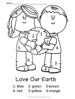 EARTH DAY COLOR BY NUMBER - TeachersPayTeachers.com