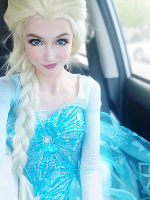 Sarah Ingle dressed as Elsa from Frozen  This is actually one of the best cosplays I've seen...