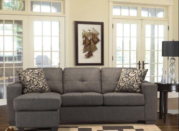9071 L Shape Grey Linen sleepers.ca $699 cdn. I think this might be my new TV rm corner sofa