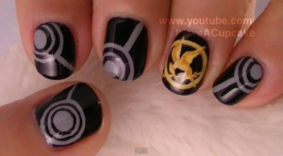 Hunger Games Nails: Style, Nailart, Makeup, Nail Designs, Hungergames, Beauty, The Hunger Game, Nail Art, Hunger Games Nails