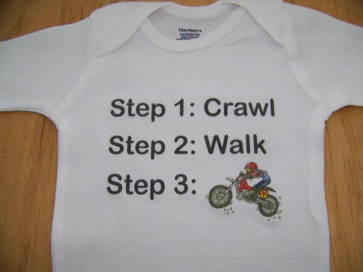 Dirt Bike Motocross Baby Boy Newborn Infant Onesie Bodysuit
