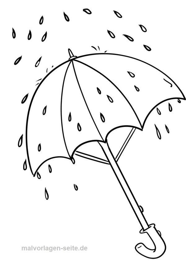 malvorlage regenschirm  wetter  kostenlose ausmalbilder