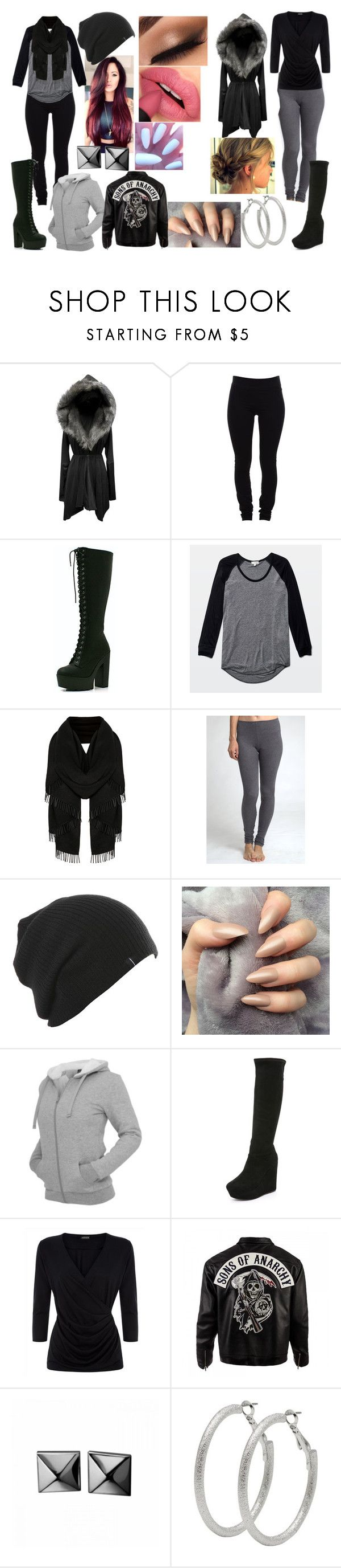 """""""Leo and Sid"""" by batman-girl616 ❤ liked on Polyvore featuring Helmut Lang, CO, Wilfred, Alice + Olivia, Jaeger, Sons of Anarchy, Waterford and M&Co"""
