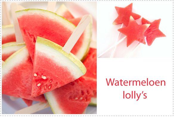 Traktatie tip – Watermeloen lolly's | Jetjes & Jobjes