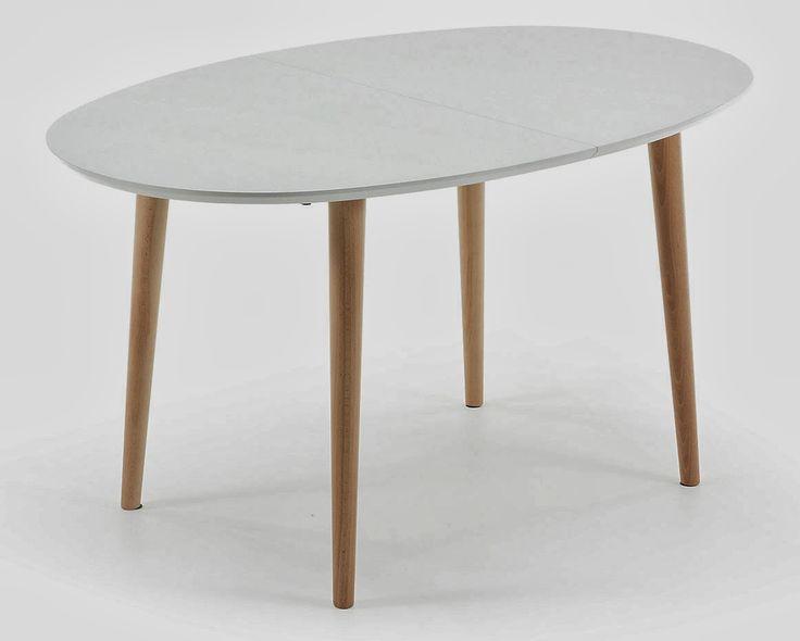 Las 25 mejores ideas sobre mesas de comedor ovalada en for Mesa extensible moderna