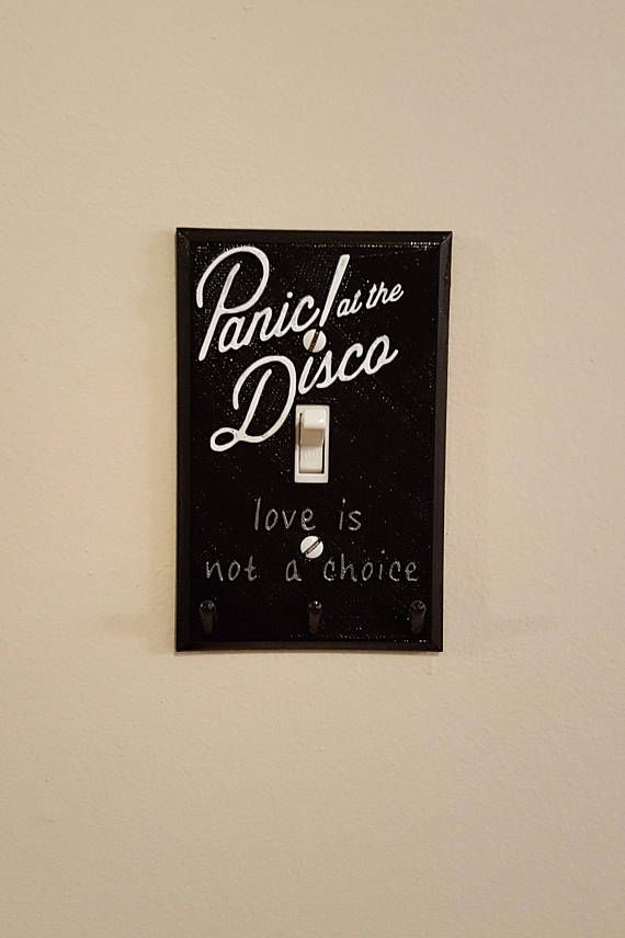 Panic! At The Disco hand painted light switch cover. I need this in my life!!!