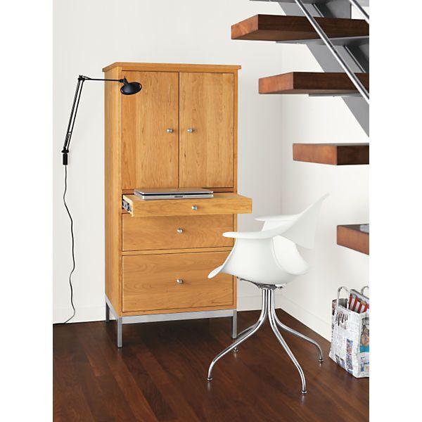 linear modern twodoor office armoire with steel base modern office