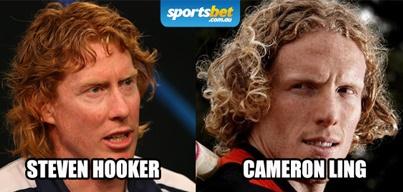 Look Alikes - Steven Hooker & Cameron Ling - Sportsbet.com.au