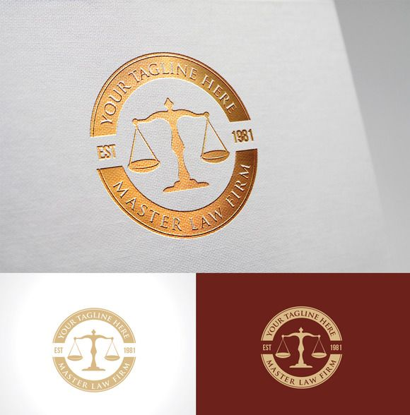 Law Firm Logo by Super Pig Shop on Creative Market