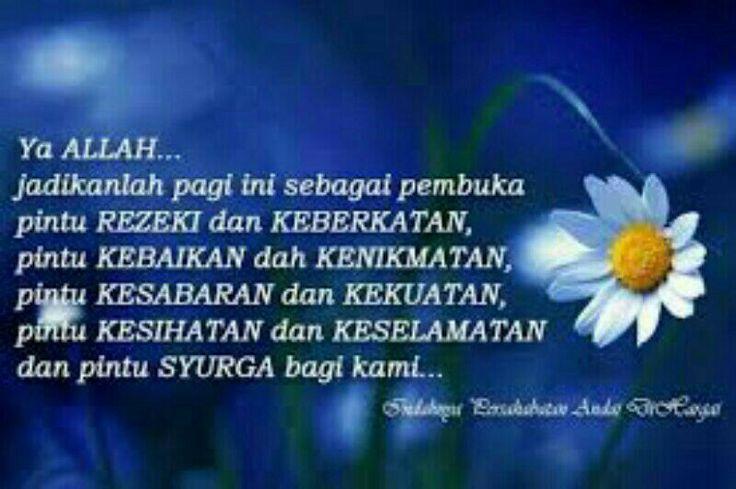 Doa di pagi hari memohan segala kebaikan kehadrat Allah SWT