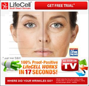 Individuals interested in trying out the highly acclaimed anti-aging Lifecell product trusted by countless celebrities and models can do so for a free 30 day trial period.