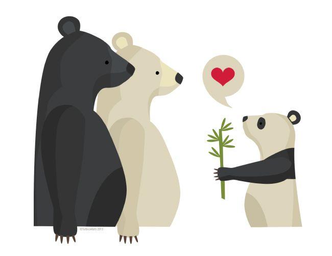Baby bear love!
