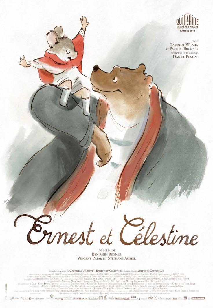affiches de cinema   Nouvelle affiche pour « Ernest et Célestine » !