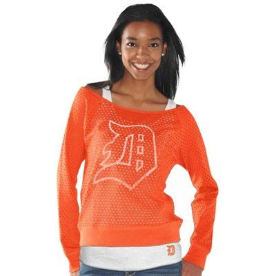 Detroit Tigers Ladies Holy Sweatshirt & Tank Set - Orange