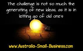 Starting a business and then growing the business - it's all about having good ideas - And of course actioning them www.Australia-Small-Business.com