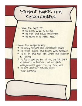 25 best ideas about rights and responsibilities on pinterest classroom agenda rules of go. Black Bedroom Furniture Sets. Home Design Ideas
