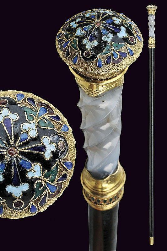 A beautiful stick-dagger by Faberge', dating: circa 1900