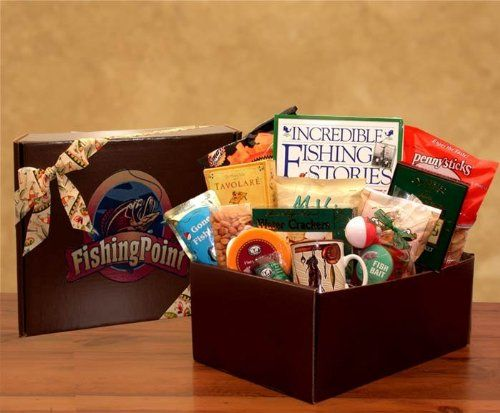 10 best valentines day gifts for fishermen images on pinterest perfect for anglers of all skill levels this fishing point gift basket is perfect for a full day of fishing chocked full of delicious treats and even an negle Images