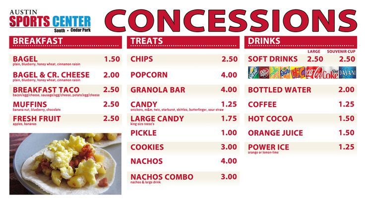 Concession stand food osm solutions provides digital