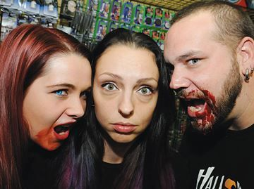 Zombies prowl downtown Barrie Saturday - For Matraca Diehl, from left, Taylor Churchward and Will Jamieson, this is one of the biggest events of the year.