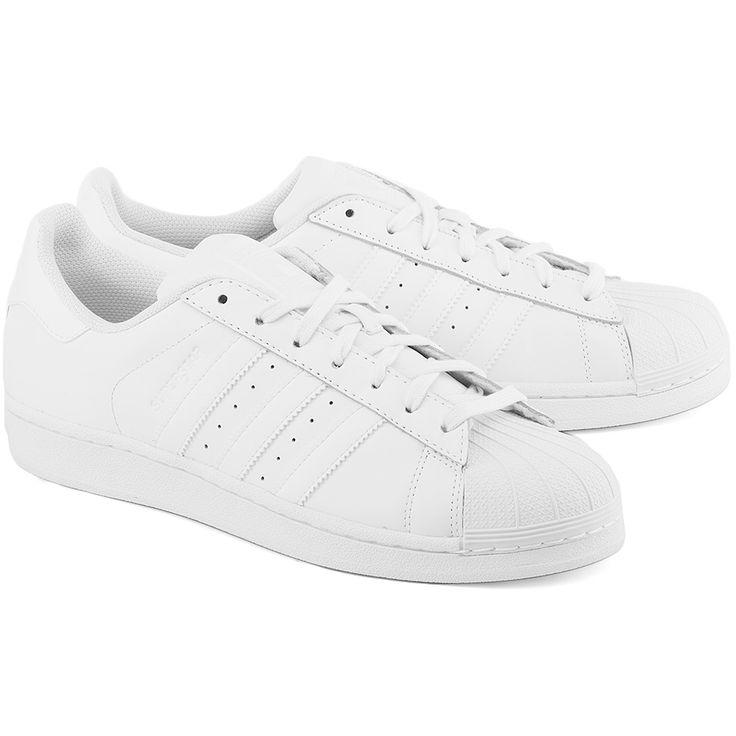 ADIDAS Superstar Foundation - Białe Skórzane Sportowe Męskie #mivo #mivoshoes #shoes #buty #men #adidas #superstar #white #totallook #sport #fashion #style #stylish #streetlook #street #new #season #collection #fall #winter #2015 #2016