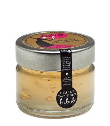 Gelée de Cava y Oro, en una tosta con foie. Todo un lujo de sabor!!