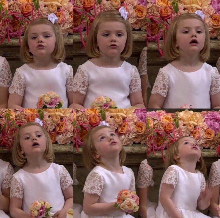 Little Swedish Princess Estelle at the wedding of her uncle, Prince Carl Philip and Miss Sofia Hellqvist on June 13, 2015.