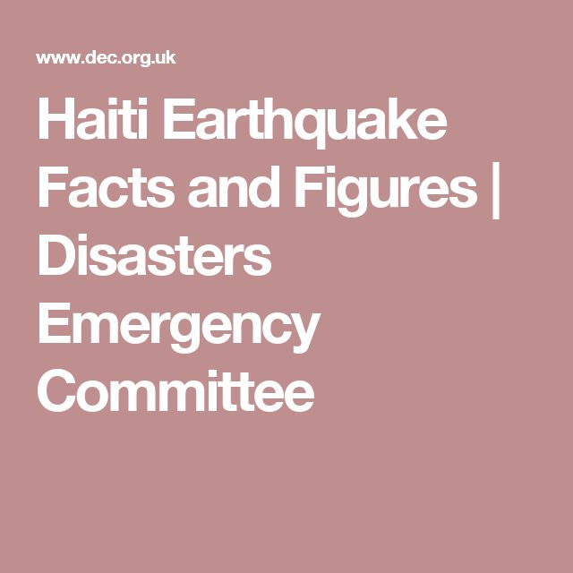 Haiti Earthquake Facts and Figures | Disasters Emergency Committee