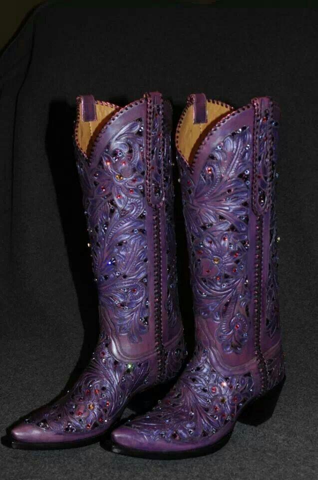 Purple Cowboy Boots Shoes Pinterest Purple Cowboy