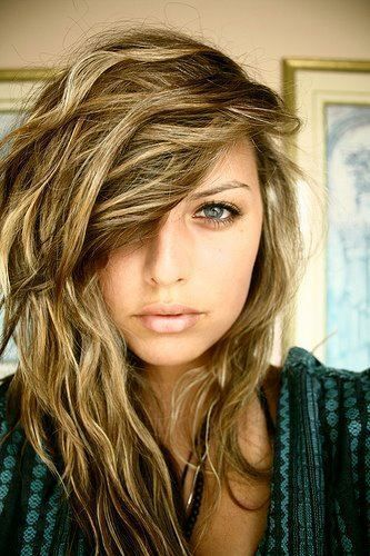 Messy Long Blonde Brown Hairstyle