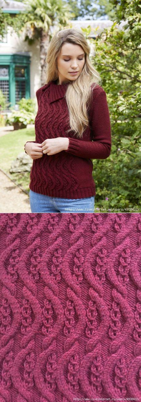Женский пуловер «Climbing Tendrils»