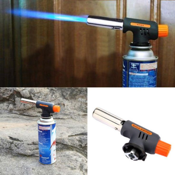 Auto Ignition Flamethrower Gas Torch Camping Welding BBQ Butane Burner Adapter - US$4.99