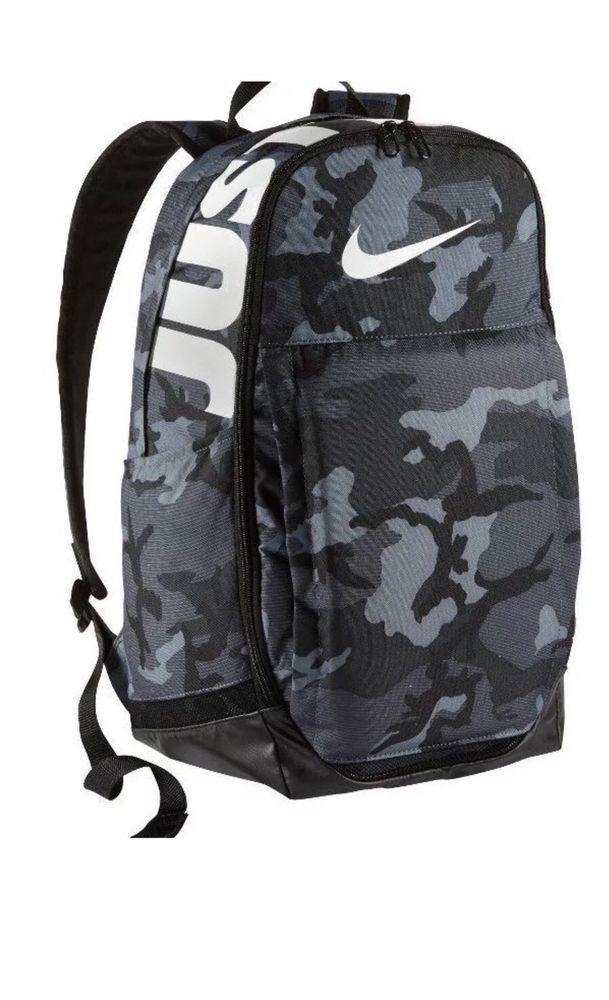 Nike Brasilia Cool Grey Black White Camo XL Training Backpack BA5482-065  NWT  Nike  Backpack f9e03cc5a73cd