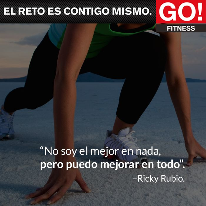 RIcky Rubio. #gofitness #clasesgo #ejercicio #gym #fit #fuerza #flexibilidad #reto #frasesgo