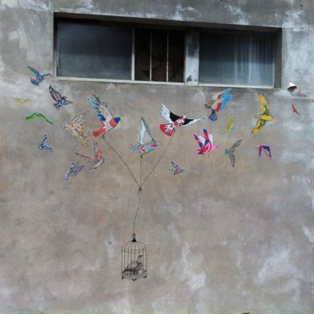 Lane way art in Surry Hills
