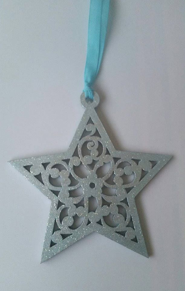 Wooden Star Christmas Yule Tree Decoration Bauble
