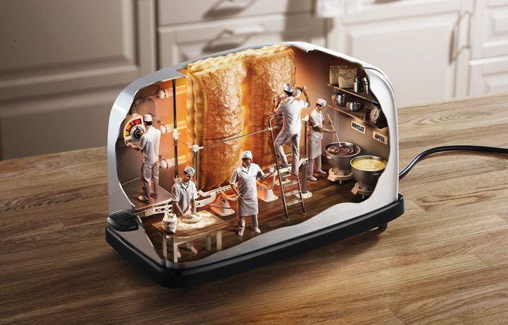 Inside Toaster: Mladen Penev, Photos Manipulation, Digital Art, Inspiration Photography, Crazy Photos, Graphics Design, Pop Tarts, Plastic Container, Funny Photos