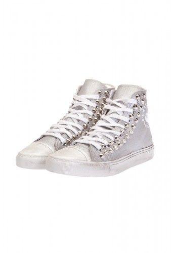 Undersolo Scarpe Sneakers Argento Borchiate #shoes #sneakers #silver #argento #borchie #studs #studded