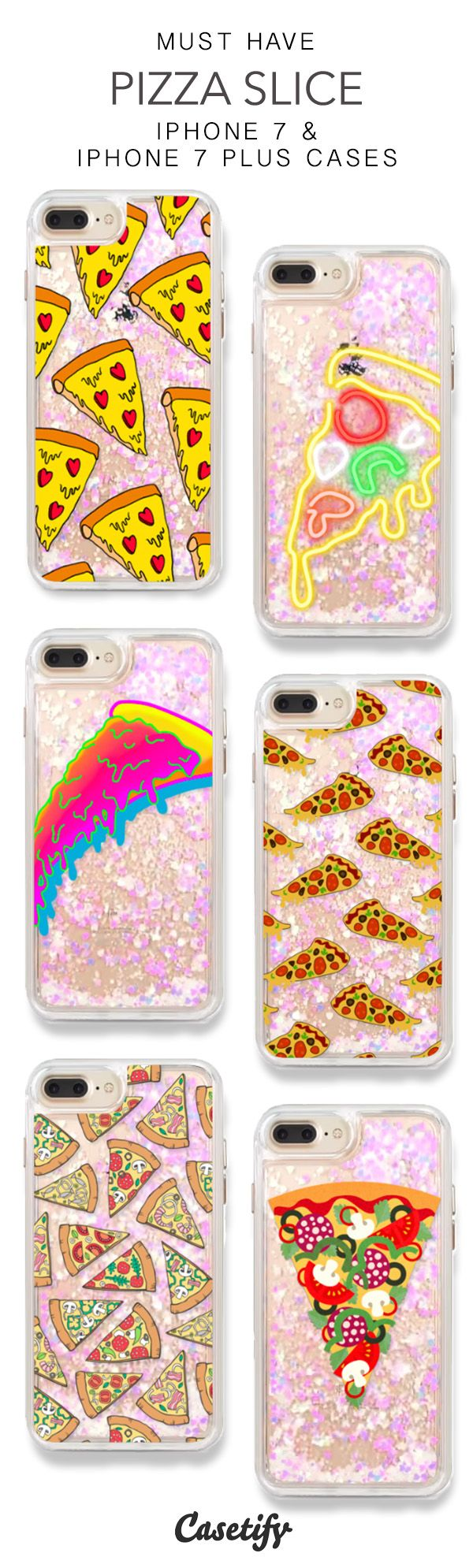 Most Popular Pizza Slice iPhone 7 Cases & iPhone 7 Plus Cases. More Foodie glitter protective iPhone case here > https://www.casetify.com/en_US/collections/iphone-7-glitter-cases#/?vc=N0w8m3afUV